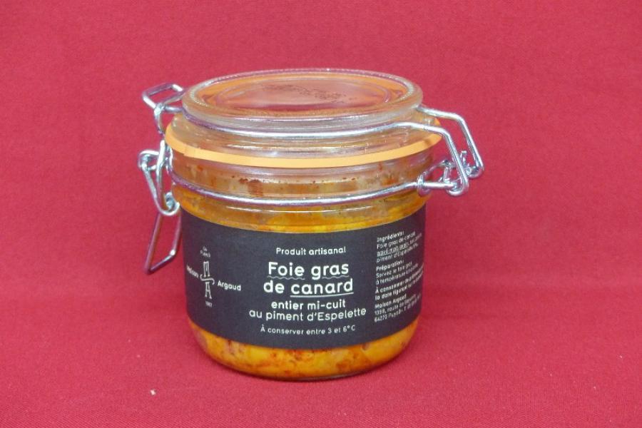 Foie gras de canard entier mi-cuit au piment d'Espelette